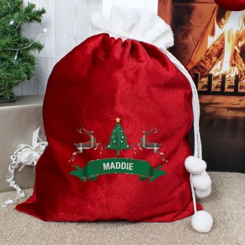 Nordic Christmas Luxury Pom Pom Sack